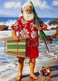 Santa In Sandals
