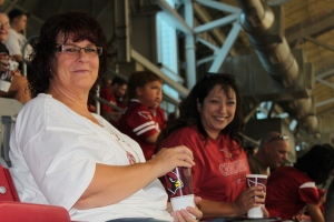 Volunteers at UofP Stadium